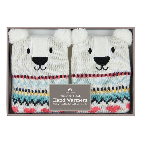 Knitted Polar Bear Hand Warmers