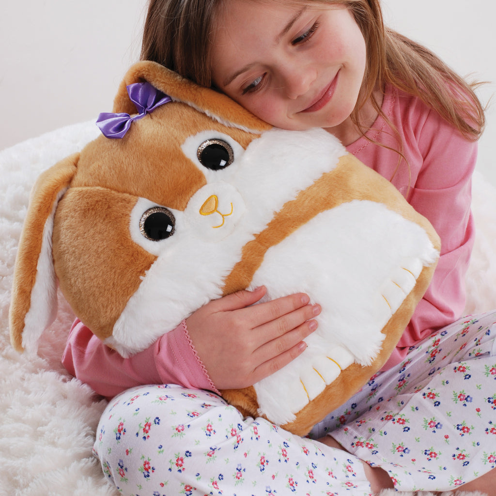 Sparkly Eyes Cuddle Cushion Rabbit