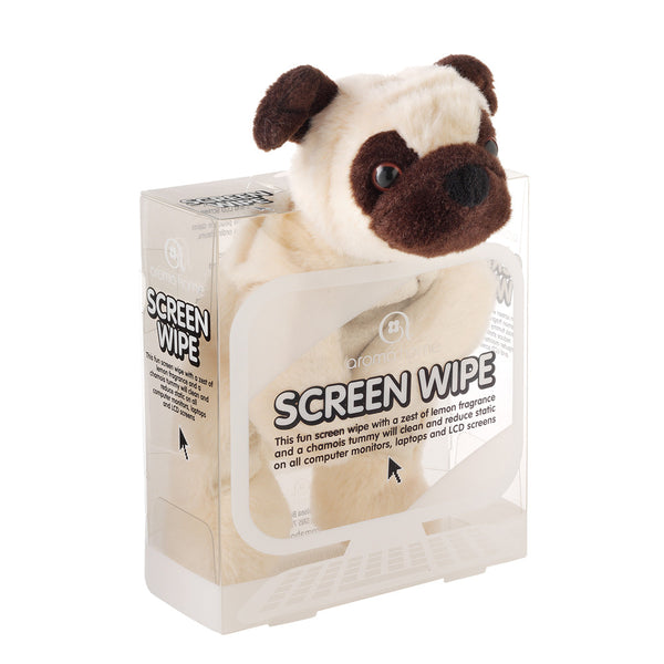 Pug Novelty Screen Wipe
