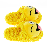 Wink Emoji Fuzzy Friends Slippers