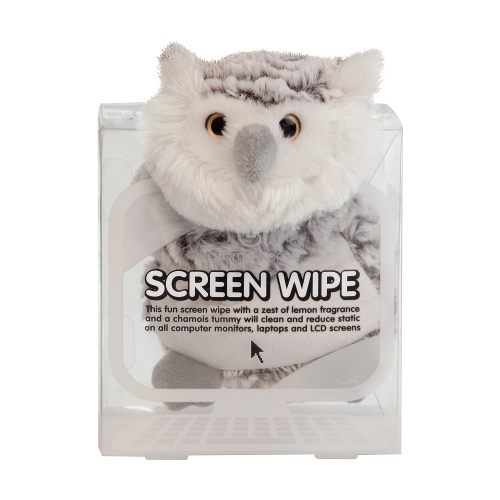 Snowy Owl Novelty Screen Wipe