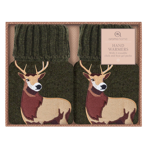 Highland Stag Knitted Hand Warmers