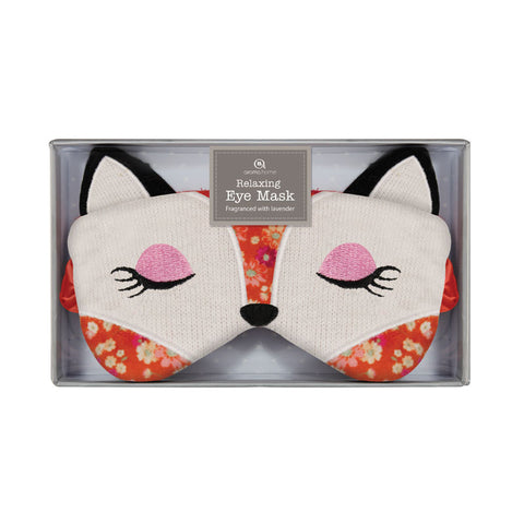 Fox Knitted Eye Mask