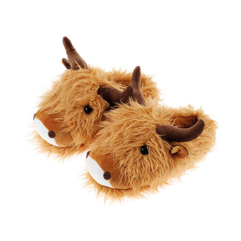 Highland Cow Fuzzy Friends Slippers