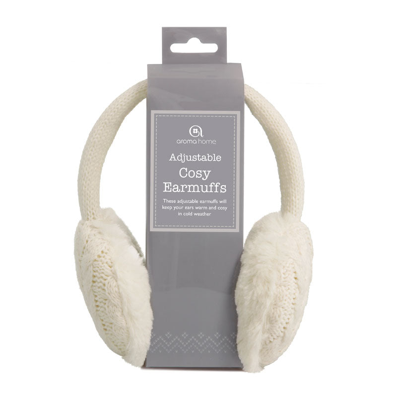 Knitted Cream Ear Muffs