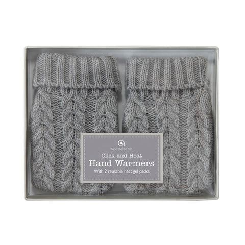 Knitted Cable Range Grey Hand Warmers