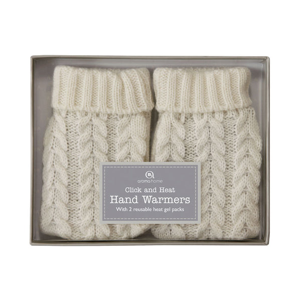 Knitted Cable Range Cream Hand Warmers