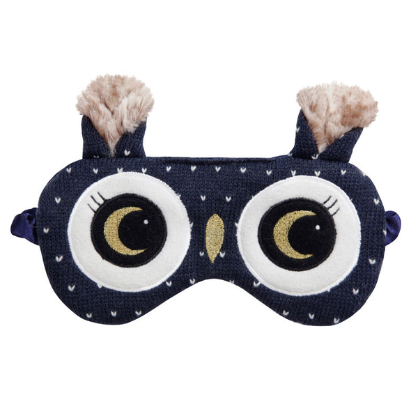Owl Knitted Eye Mask