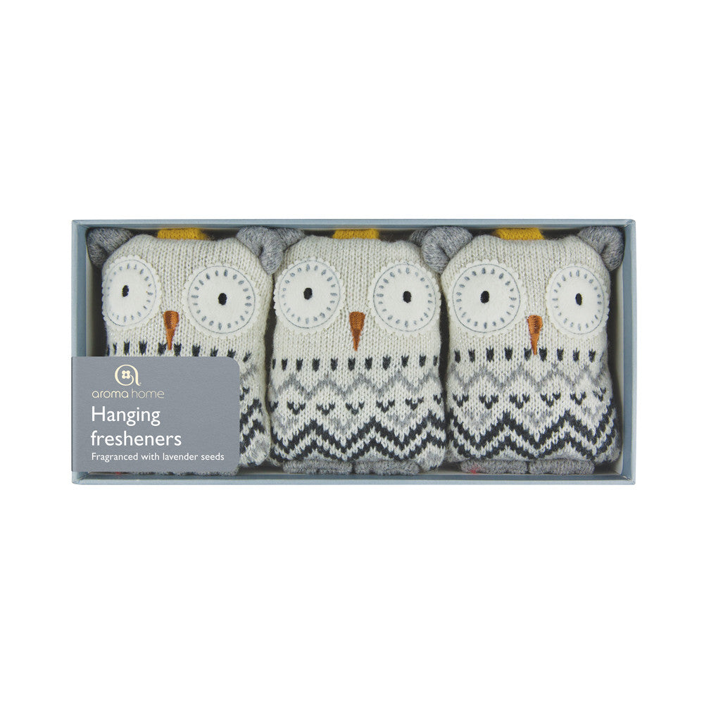 Knitted White Owl Hanging Fresheners