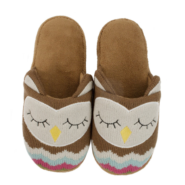Knitted Owl Slippers