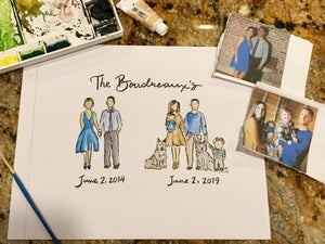 Wedding & Anniversary Watercolor Portraits
