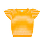 FUB T-Shirt Pointelle Ecru Yellow - La La Land Kids Concept Store Limburg Diepenbeek