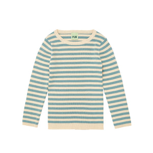 FUB Rib Striped Blouse Ecru Blue - La La Land Kids Concept Store Limburg Diepenbeek
