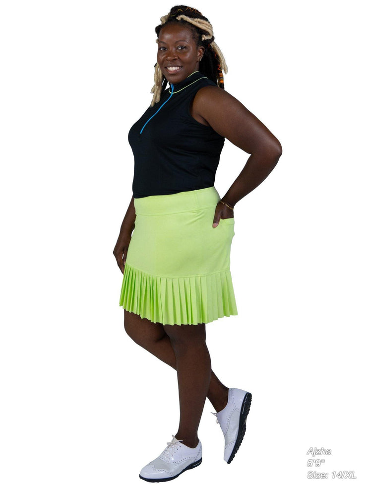 Knife Pleat Skort - Long - KLM