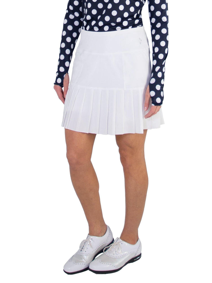 Knife Pleat Skort - Long - White