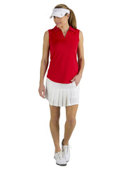 Scallop Sleeveless Polo