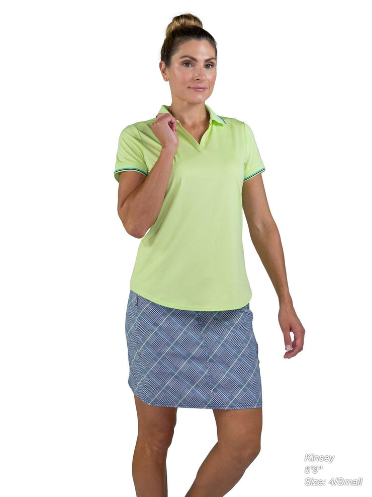 Short Sleeve Rib Trim Polo