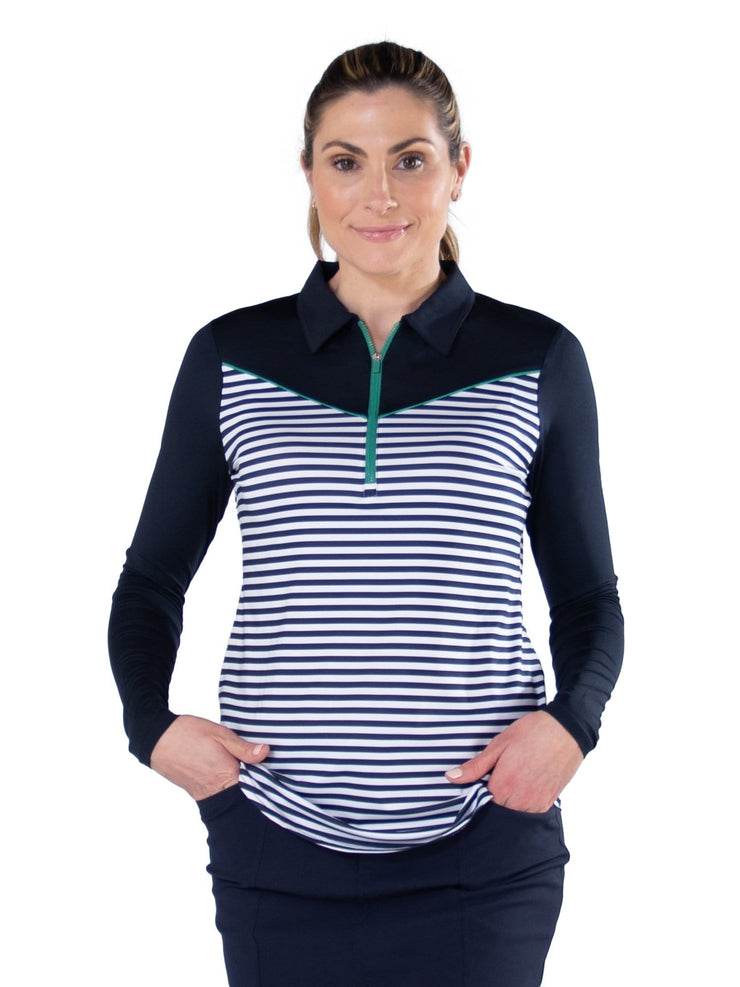 Long Sleeve Pointed Yoke Polo