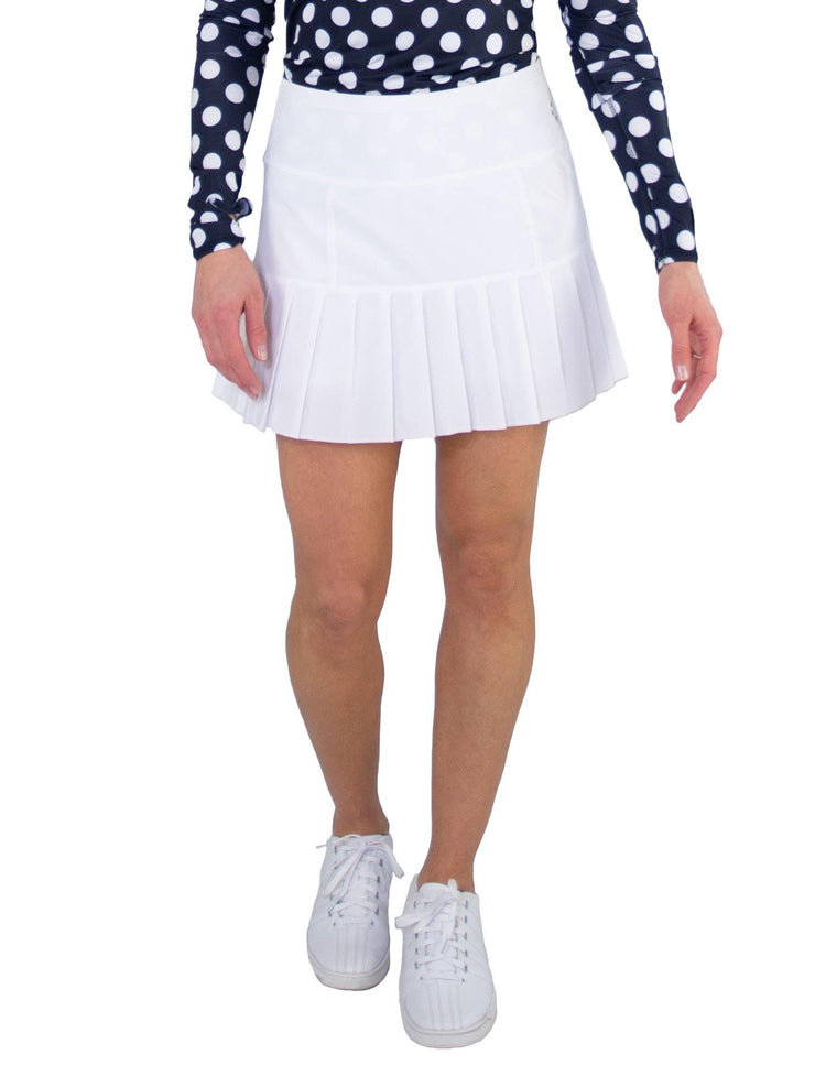 Knife Pleat Skort - Short - WHT