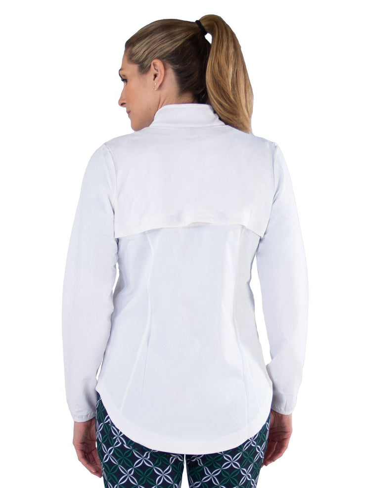 Wind Jacket w/ Removable Sleeves WHT