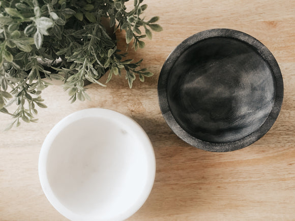 Oversized Marble Pinch Bowls