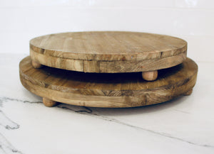 Round Footed Trays