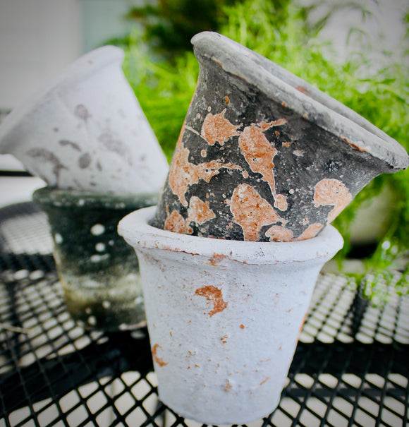 Antiqued Clay Pots