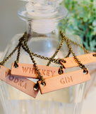 Leather Decanter Tag Set