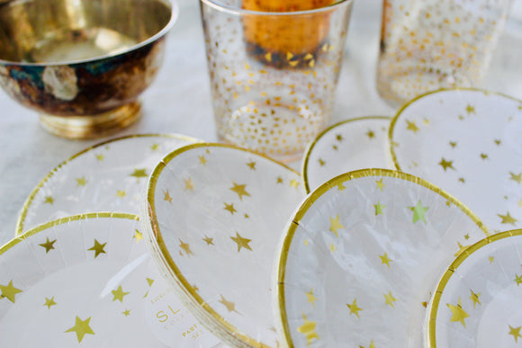 Gold Star Small Party Plates