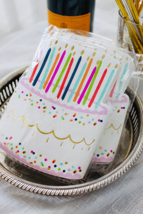Birthday Cake Cutout Napkins