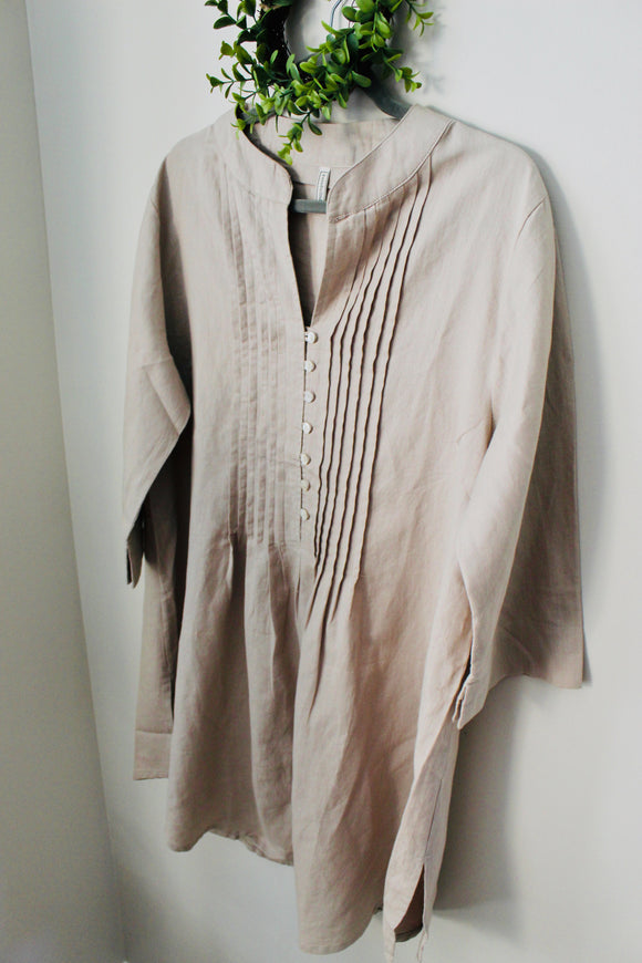 Taupe Linen Tunic