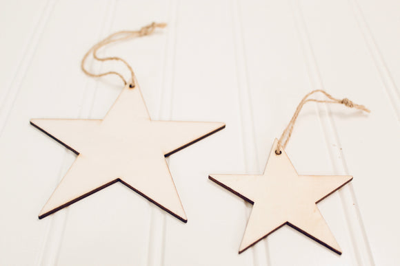 Small Wooden Star Adornment