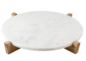 Marble+Natural Wood Tray