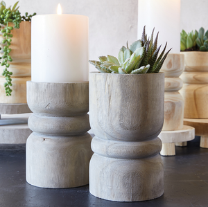 Multi Purpose Pillar Candle+Flower Pot