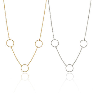 Three Hoop Necklace