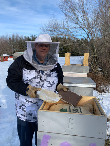 Feeding Bees for Spring