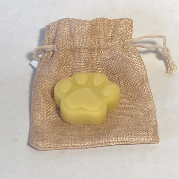 Dog foot balm bar in pouch