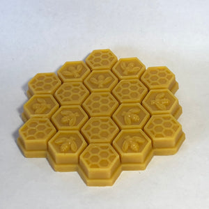Raw beeswax for sale in honeycomb pattern