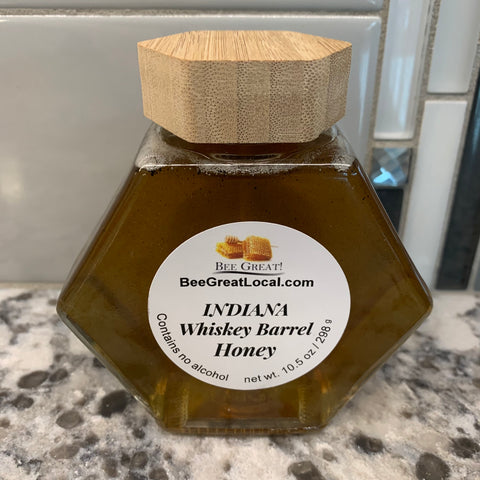 Indiana Whiskey Barrel Honey
