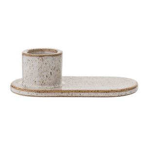Stoneware Candlestick, Natural