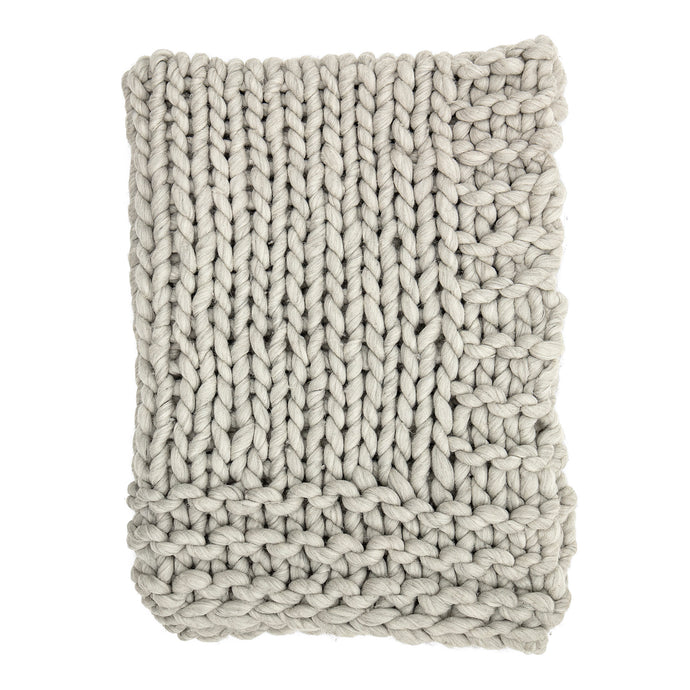 Chunky Knit Throw Grey