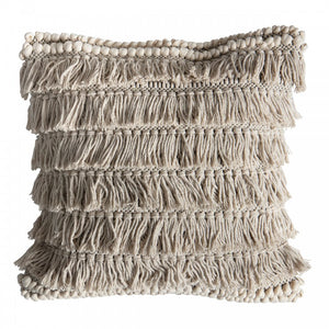 boho fringed cushion