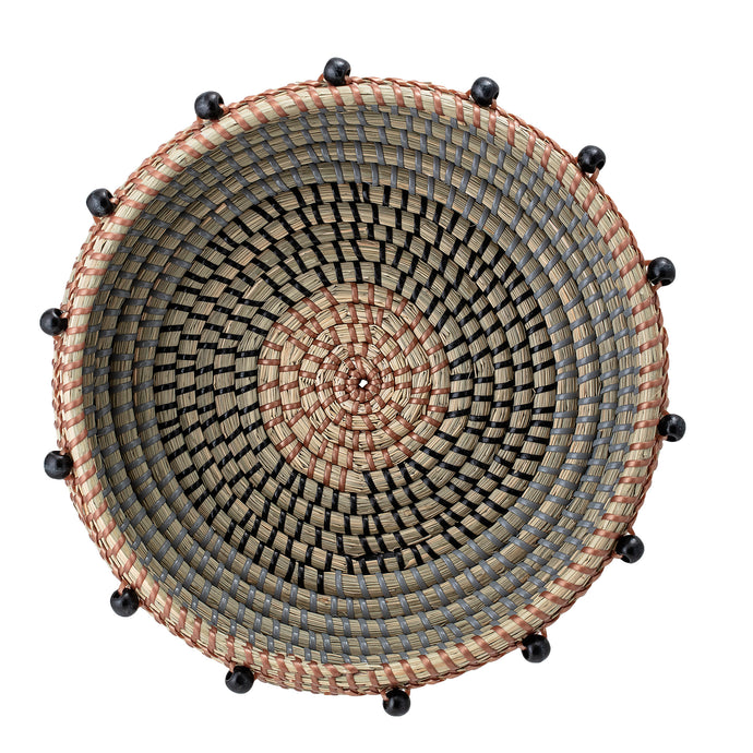 Beaded Basket, Seagrass