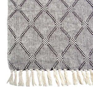 cotton diamond throw