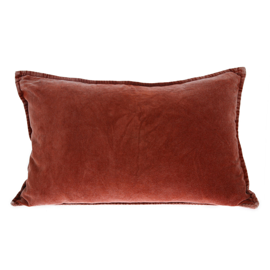 Velvet Cushion, Rust