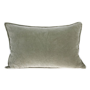 Velvet Cushion, Green