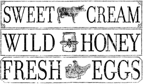 Farm Fresh Signage 24x33 Decor Transfer