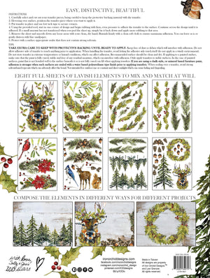 IOD Woodland Christmas Transfer