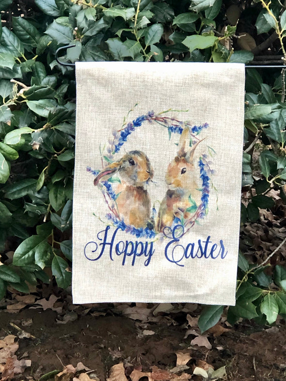 Bunny Hoppy Easter Flag