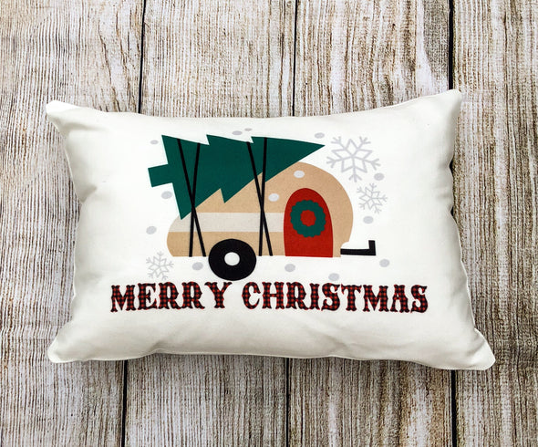 Christmas  Pillow Merry Christmas Camper